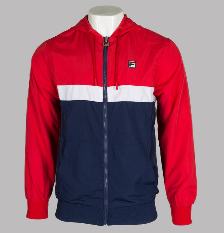Fila Vintage Ambrose Colour Block Jacket Chinese Red
