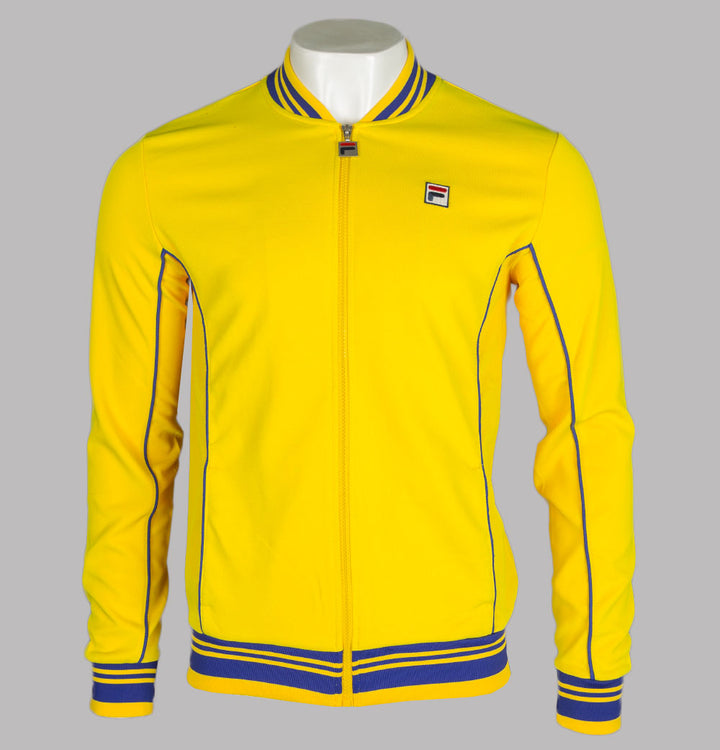 Fila Vintage Baranci Tracksuit Top Cyber Yellow