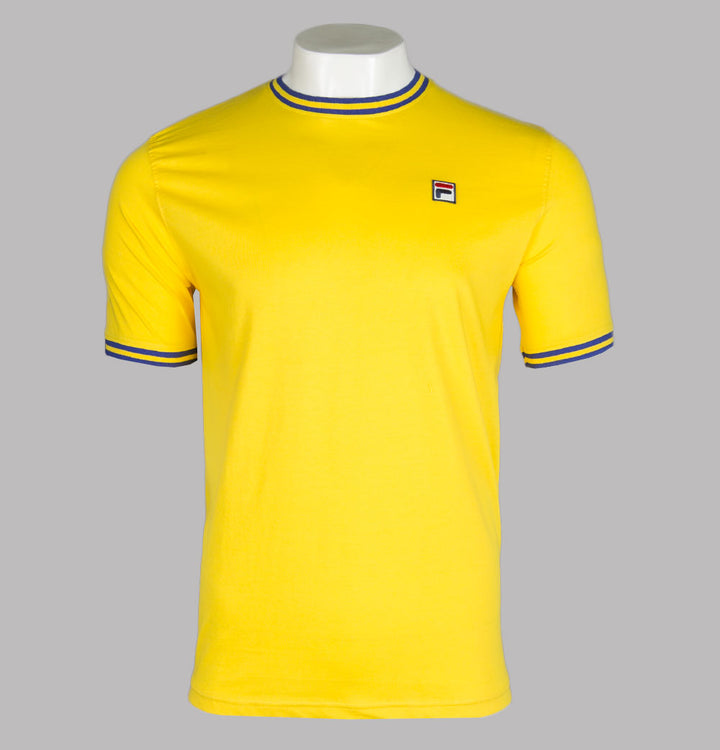 Fila Vintage Flank Ringer T-Shirt Cyber Yellow