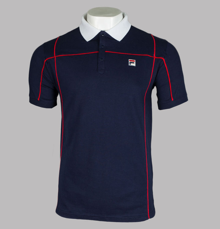 Fila Vintage Terrinda Polo Shirt Navy