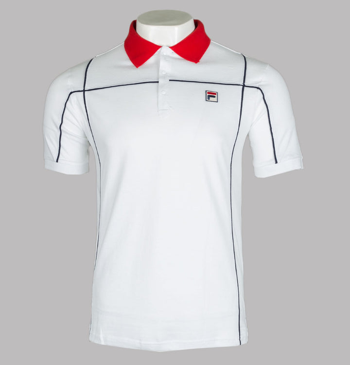 Fila Vintage Terrinda Polo Shirt White