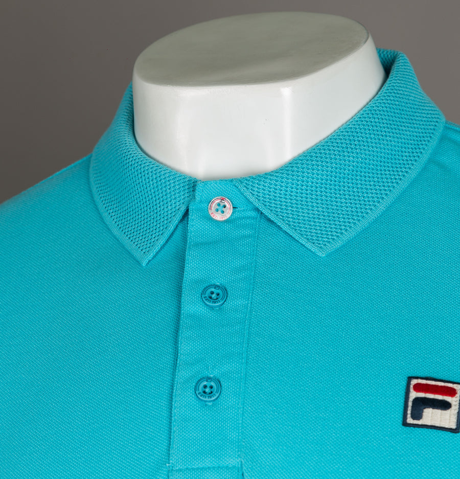 Fila Vintage Brizzi Polo Shirt Crystal Blue