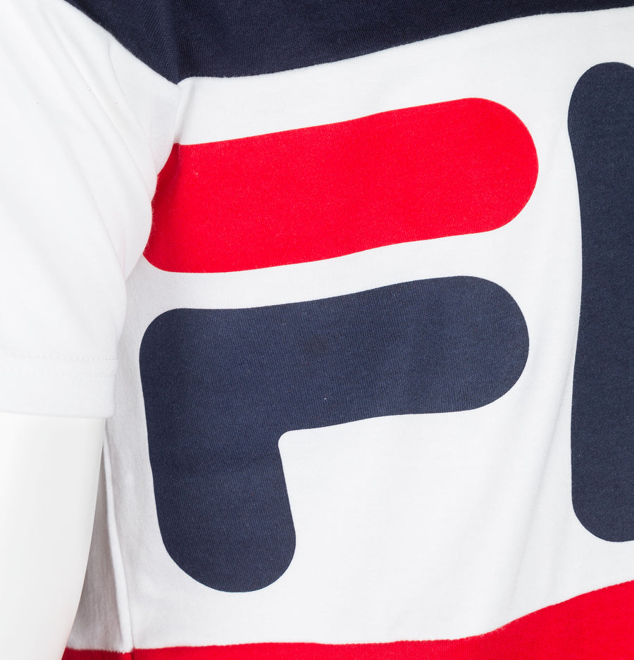 Fila Vintage Vialli Colour Block T-Shirt Navy