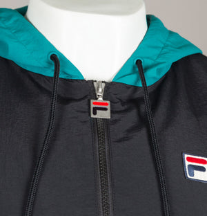 Fila Vintage Macker 2 Colour Block Jacket Black
