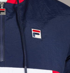 Fila Vintage Macker 2 Colour Block Jacket Navy