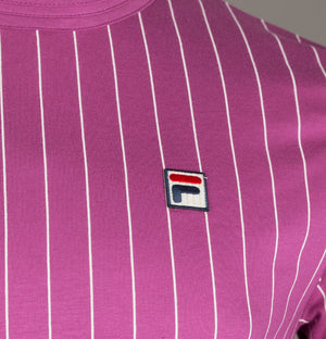 Fila Vintage Guilo Stripe T-Shirt Purple