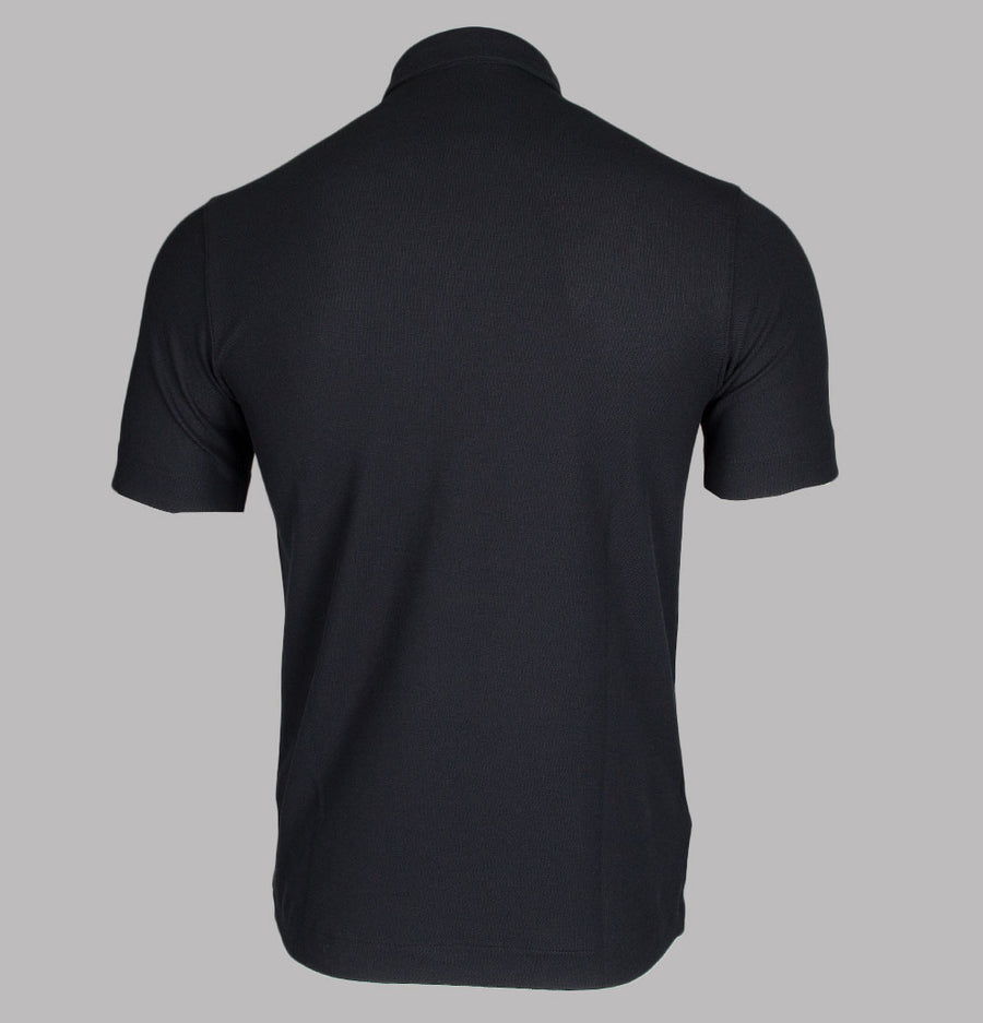 Fred Perry Button Down Polo Shirt Black