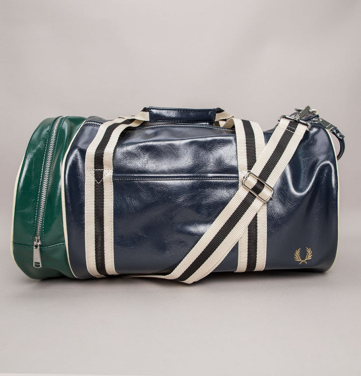 Fred Perry Colour Block Barrel Bag Navy/Ivy