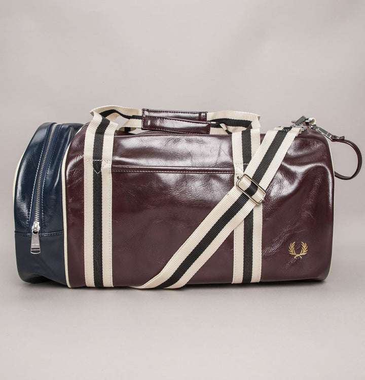 Fred Perry Colour Block Barrel Bag Port/Navy