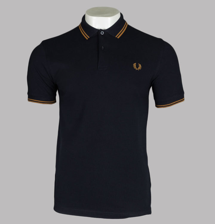 Fred Perry M3600 Polo Shirt Navy/Dark Caramel