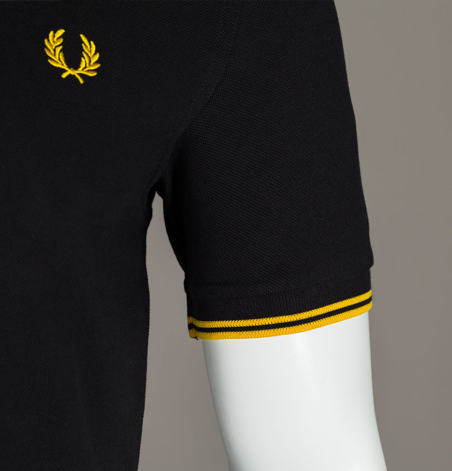 Fred Perry M3600 Polo Shirt Black/New Yellow