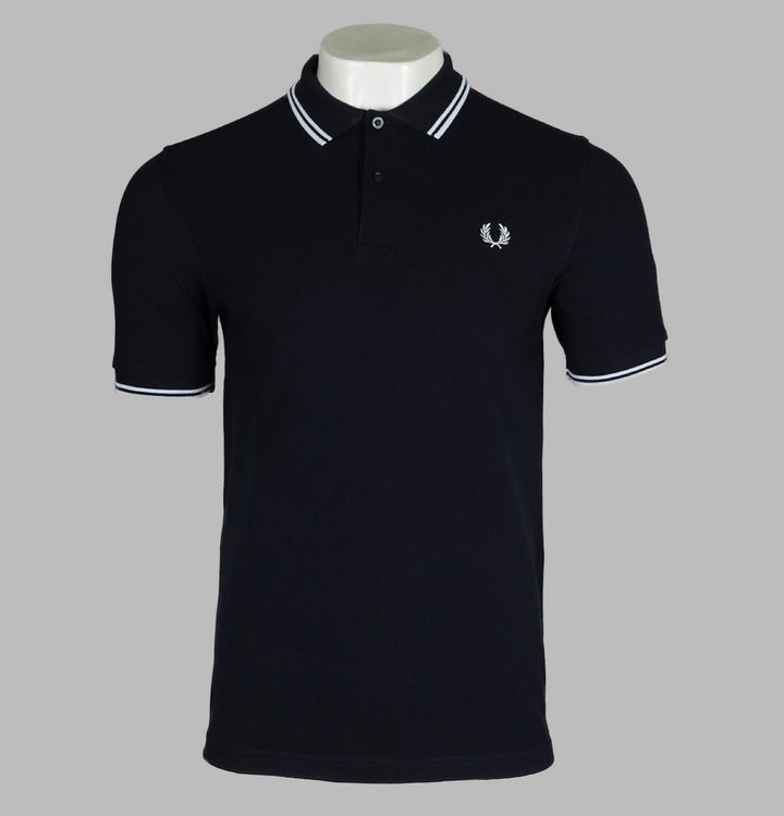 Fred Perry M3600 Polo Shirt Navy Blue/White