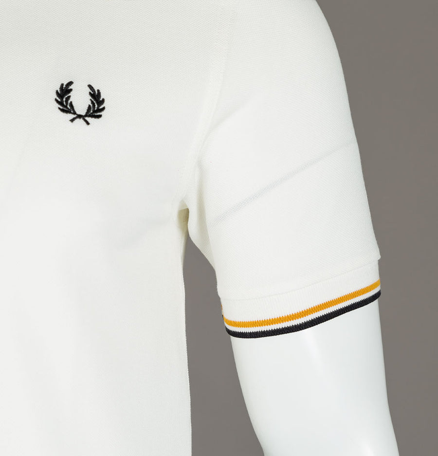Fred Perry M3600 Polo Shirt Snow White/Gold