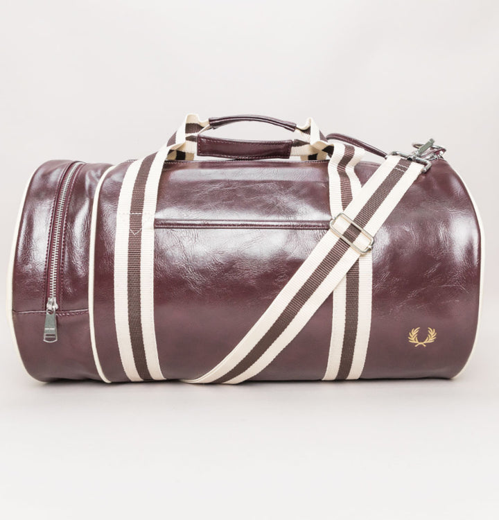 Fred Perry New Classic Barrel Bag Port/Ecru