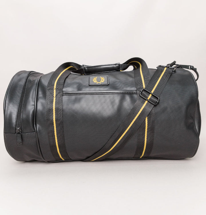Fred Perry Pique Texture Barrel Bag Black