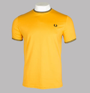 Fred Perry Twin Tipped T-Shirt Amber
