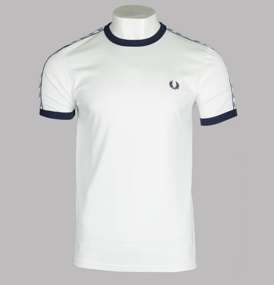 Fred Perry Taped Ringer T-Shirt Snow White