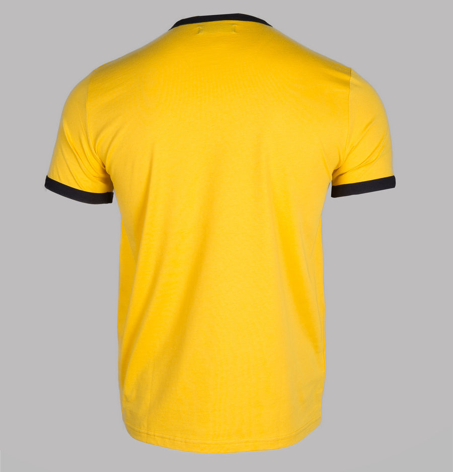 Fred Perry Ringer T-Shirt Yellow