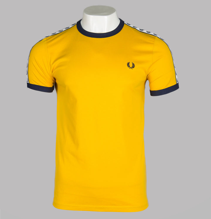 Fred Perry Sports Authentic Taped Ringer T-Shirt Yellow