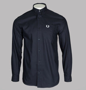 Fred Perry Oxford Shirt Navy Blue