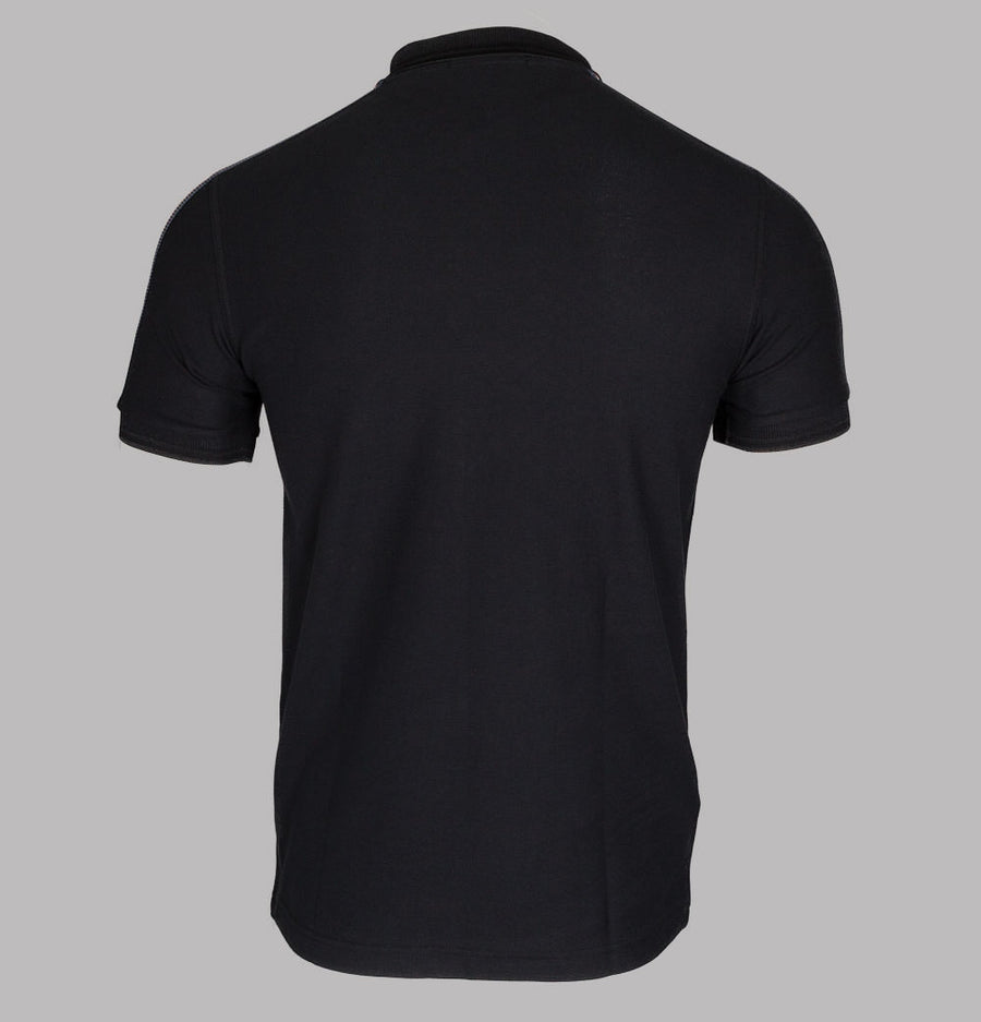 Fred Perry Taped Shoulder Polo Shirt Black