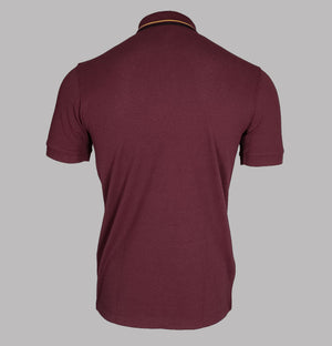 Fred Perry Tipped Placket Polo Shirt Port
