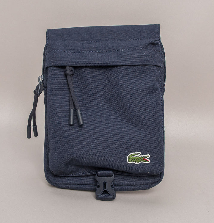 Lacoste Canvas Cross Body Wallet Navy