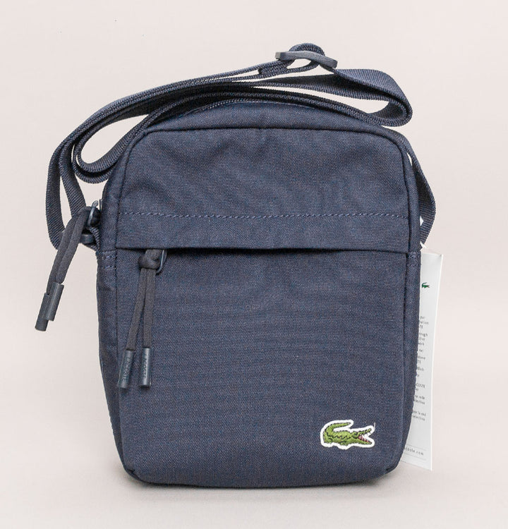 Lacoste Canvas Vertical All-Purpose Bag Navy