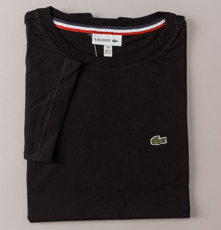 Lacoste Crew Neck Cotton T-Shirt Black