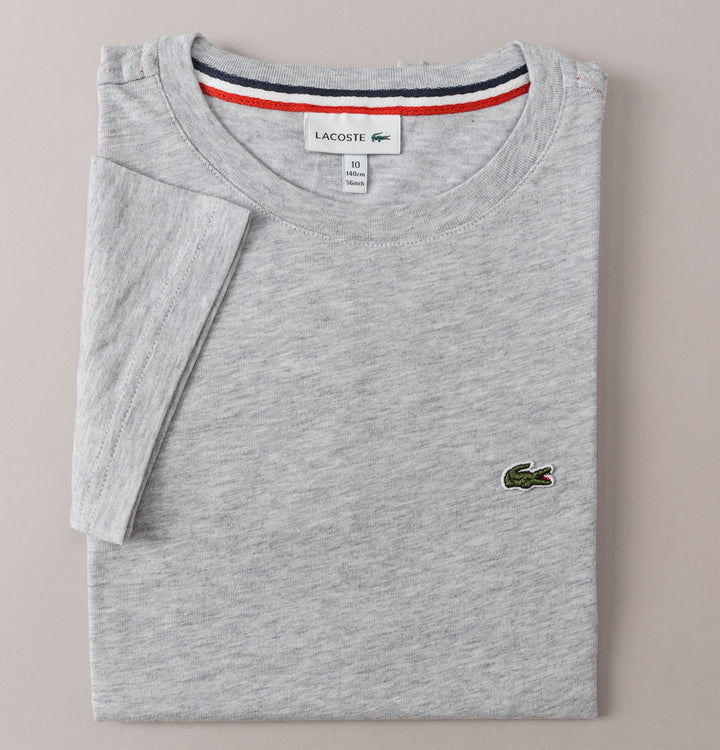 Lacoste Crew Neck Cotton T-Shirt Grey