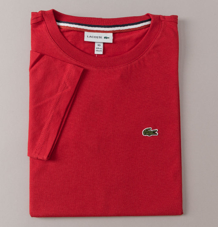 Lacoste Crew Neck Cotton T-Shirt Red