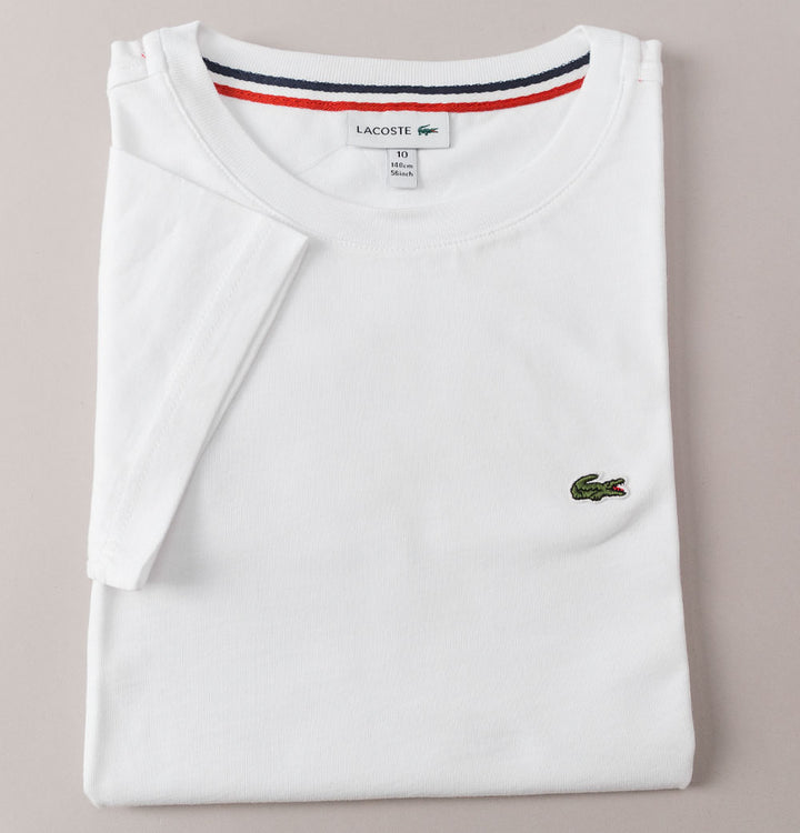 Lacoste Crew Neck Cotton T-Shirt White