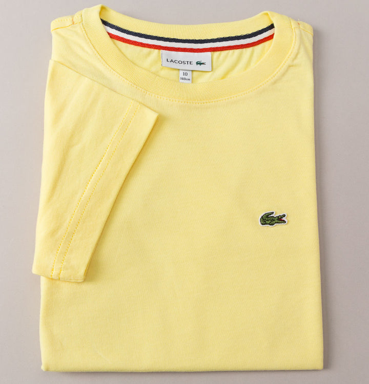 Lacoste Crew Neck Cotton T-Shirt Yellow