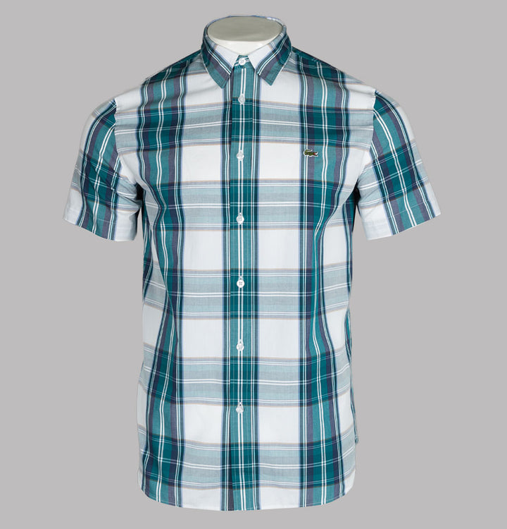Lacoste Regular Fit Short Sleeve Check Shirt