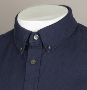 Lacoste Regular Fit Short Sleeve Oxford Shirt Navy Blue