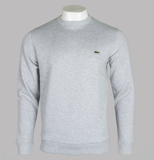Lacoste Tonal Branded Crew Neck Sweatshirt Light Grey