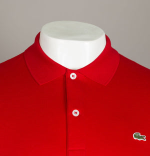 Lacoste Cotton Jersey Polo Shirt Red
