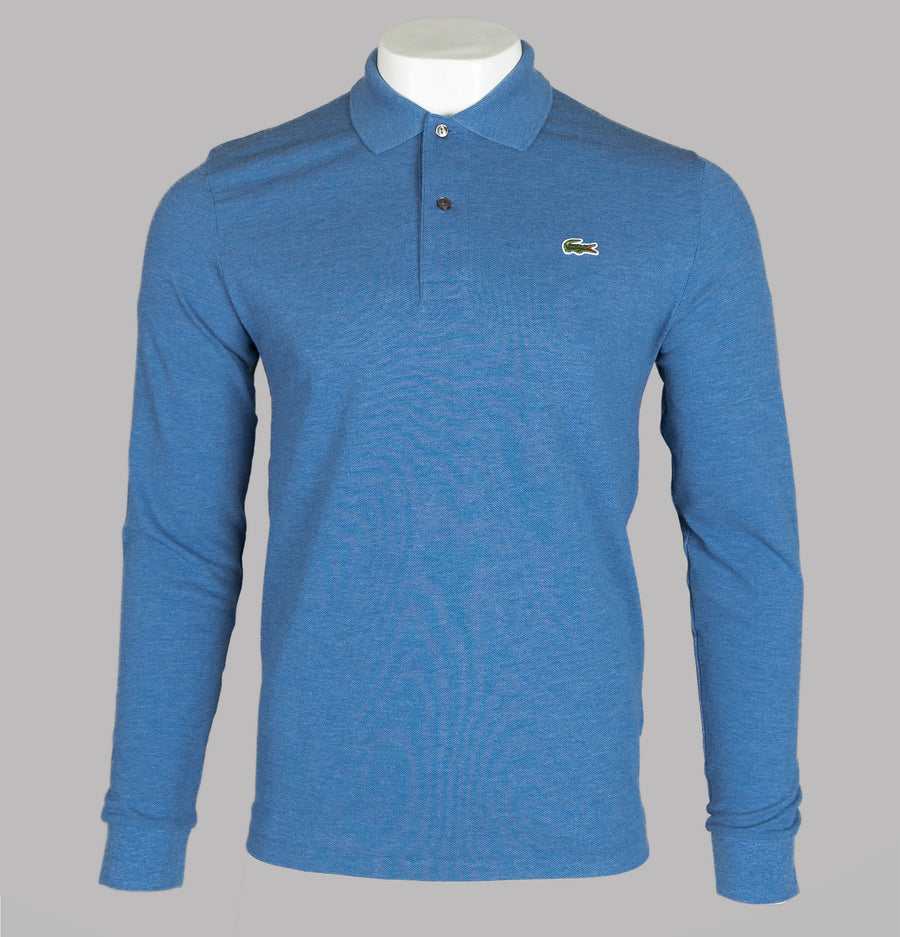 Lacoste Long Sleeve Polo Shirt Blue Chine