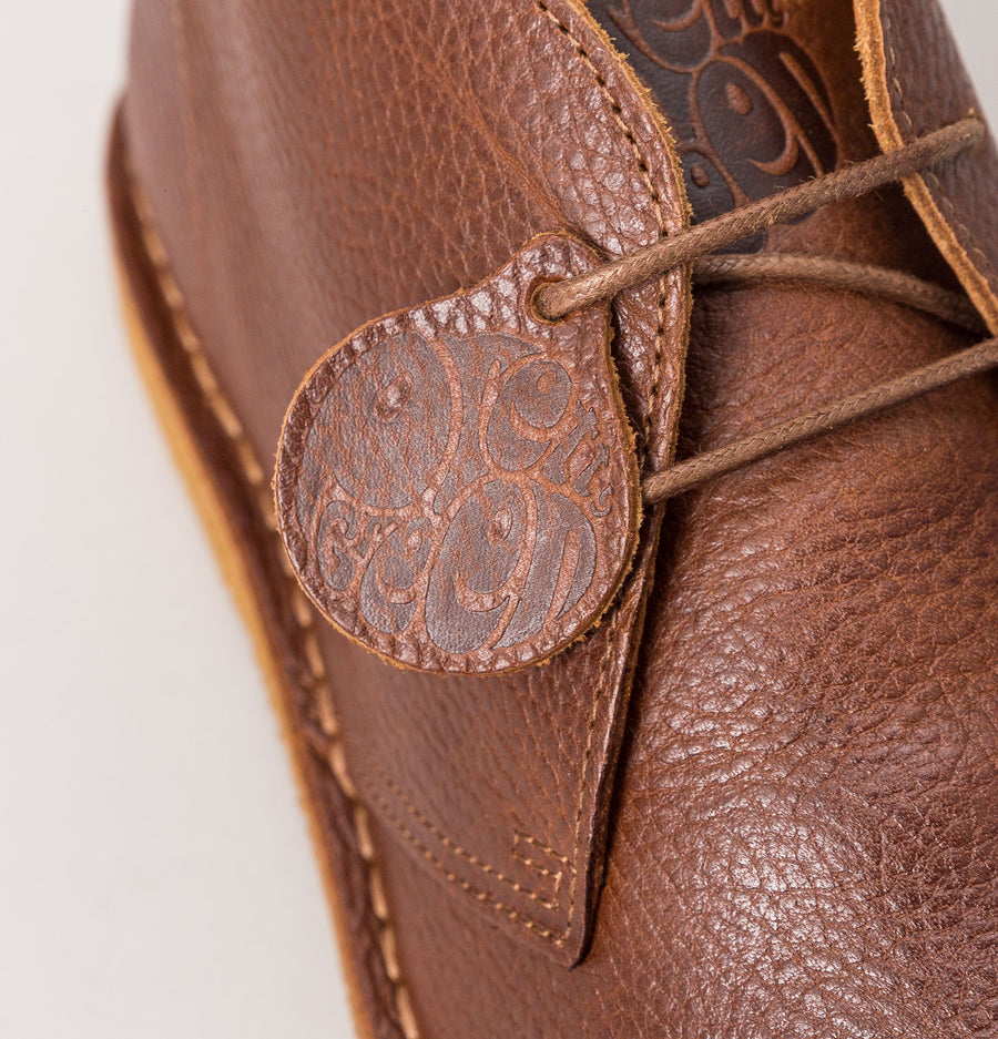 Pretty Green Leather Desert Boots Tan Brown