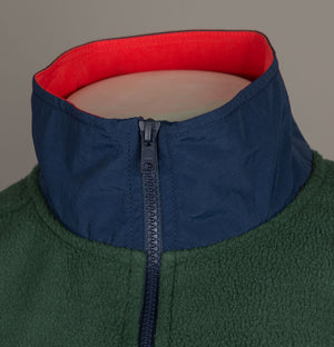 Levi's® 1/4 Zip Polar Fleece Sweatshirt Python Green