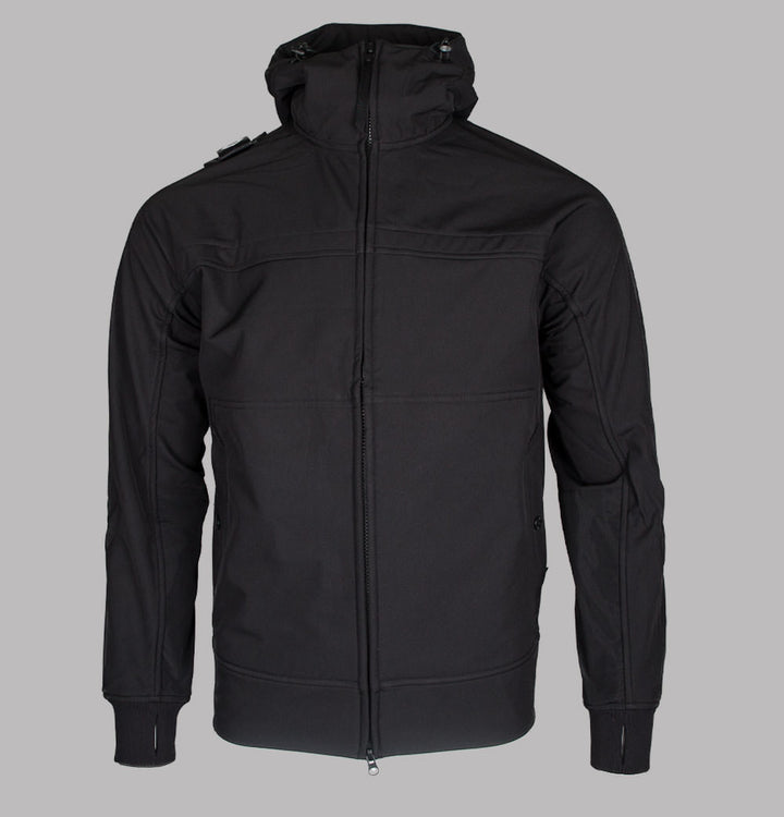 Ma.Strum Full Zip Hooded Softshell Jacket Jet Black