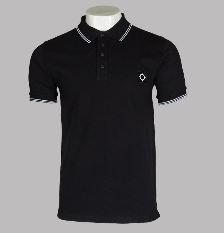 Ma.Strum S/S Jersey Polo Shirt Jet Black