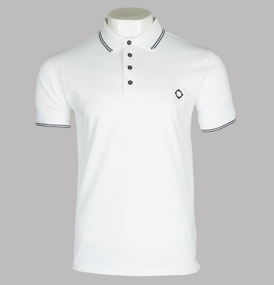 Ma.Strum S/S Jersey Polo Shirt Optic White