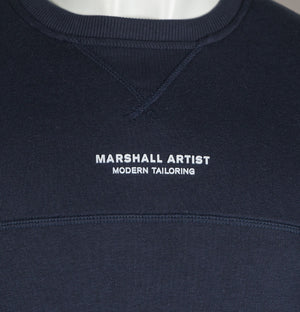 Marshall Artist Siren Crew Neck Sweatshirt Navy Blue