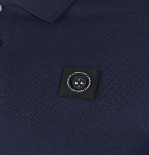 Marshall Artist Siren S/S Polo Shirt Navy Blue