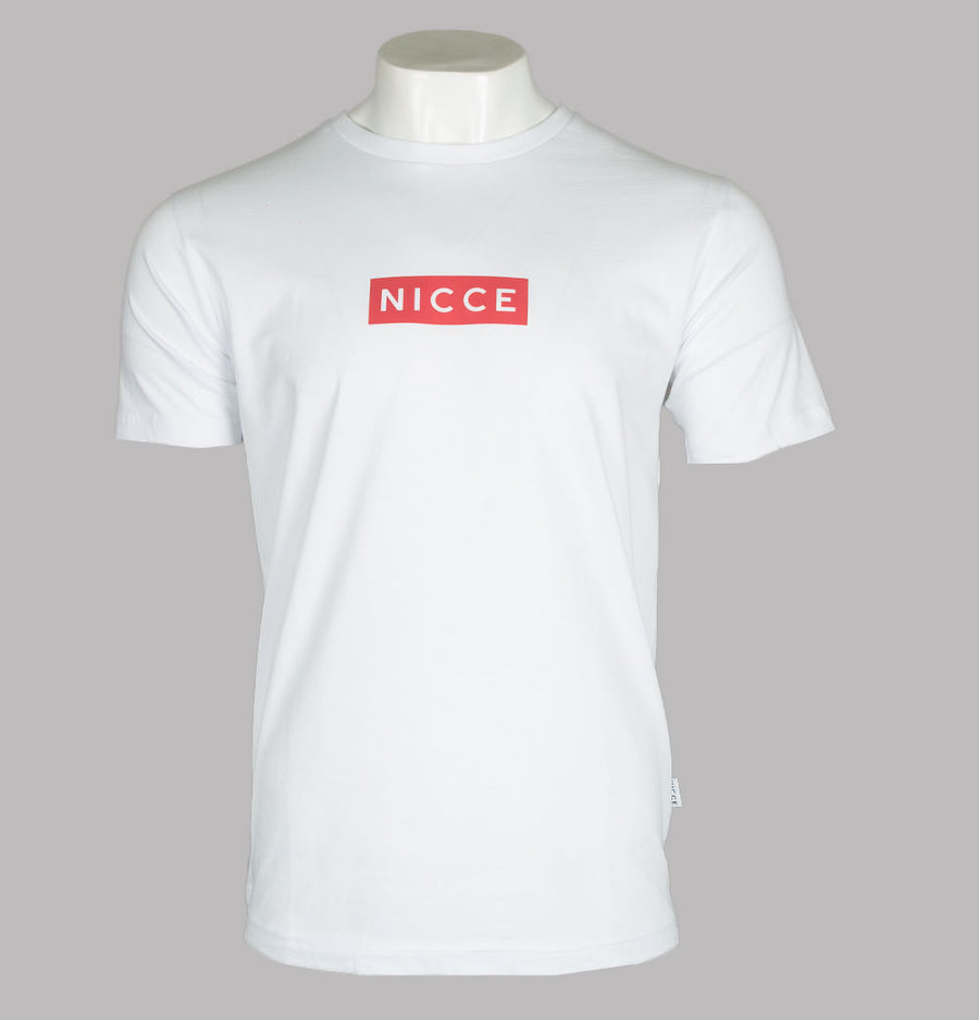 Nicce Base T-Shirt White/Holly Berry