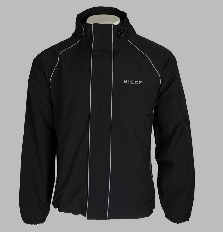Nicce Linear Jacket Black/Blue Mirage