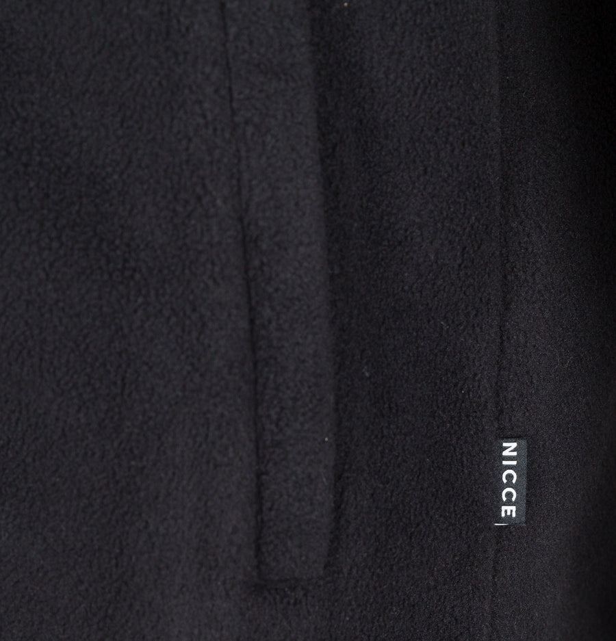 Nicce Corto Half Zip Fleece Sweatshirt Black