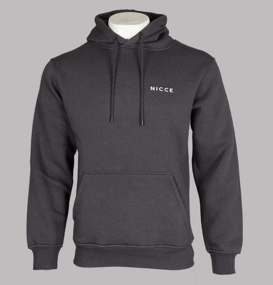 Nicce Chest Logo Hoodie Coal Grey