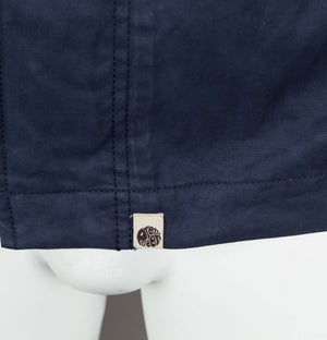 Pretty Green Cotton Zip Up Hooded Jacket Navy